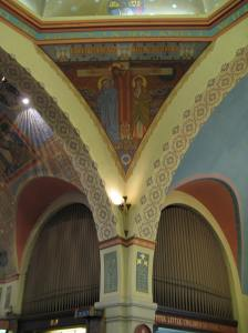 Around the organ - not the one we used! -
