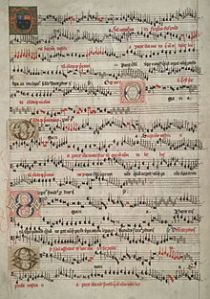 A page from the Eton Choirbook