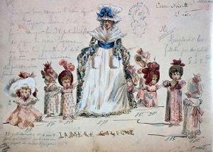 Original costume design for Tchaikovsky's Nutcracker, 1892
